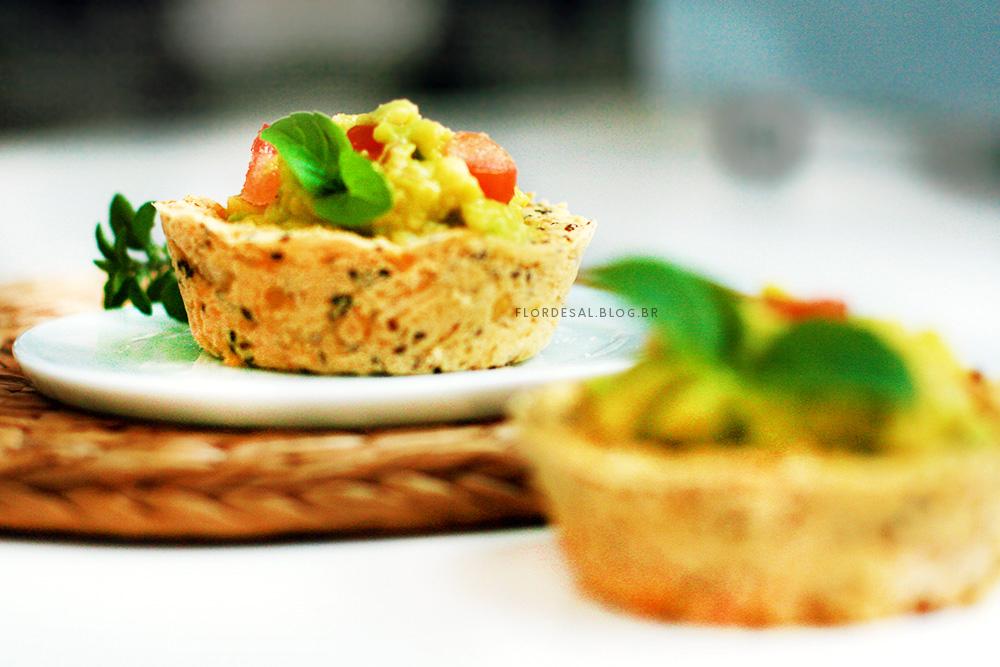 Tortinha Proteica de Guacamole