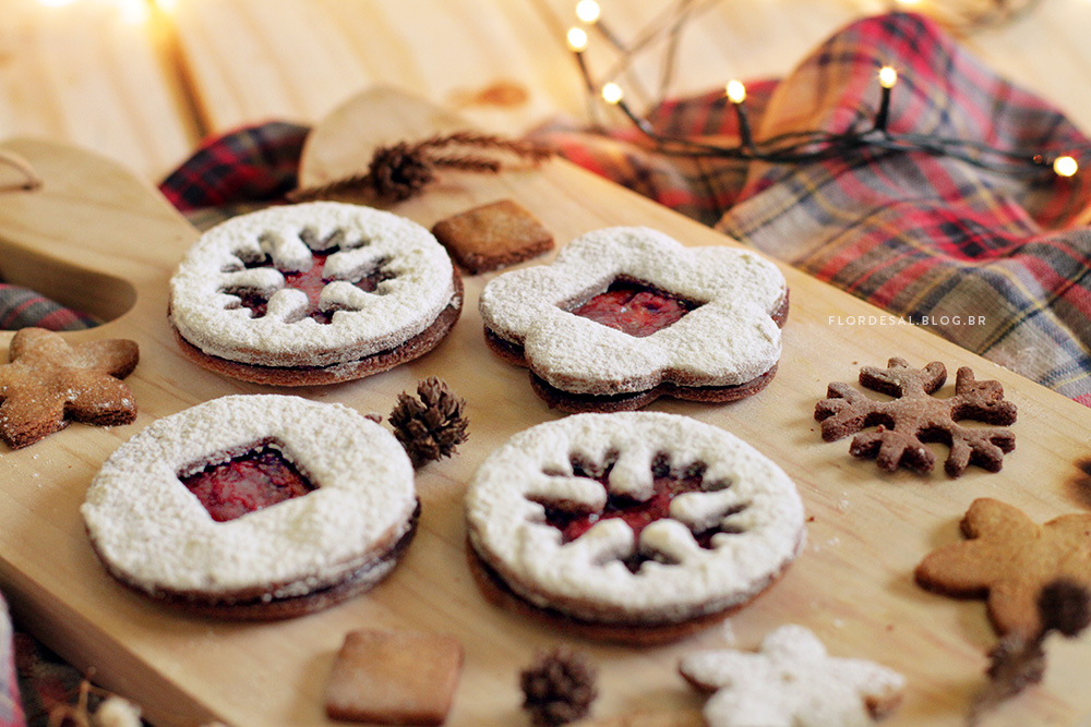 Biscoitos de Natal | Biscoito Linzer